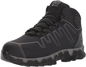 Timberland PRO Men's Powertrain Sport Mid Alloy Toe EH Industrial & Construction Shoe, Black Ripstop Nylon, 10.5 Wide