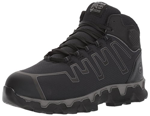 Timberland PRO Men's Powertrain Sport Mid Alloy Toe EH Industrial & Construction Shoe, Black Ripstop Nylon, 7 M US