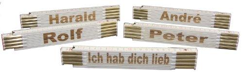 Zollstock mit Wunsch-Lasergravur