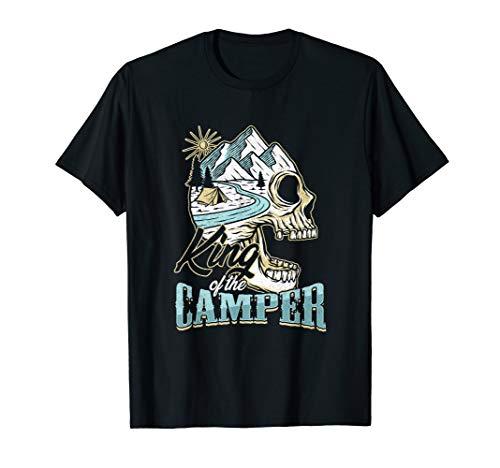 King Of The Camper Der Camping König Wohnwagen Campingplatz T-Shirt