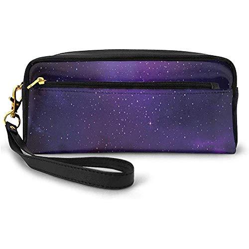 Galaxy Nebula Illustration Deep Space Sternhaufen und Sternbild Milchstraße Kleine Kosmetiktasche Federmäppchen 20cm * 5,5cm * 8,5cm