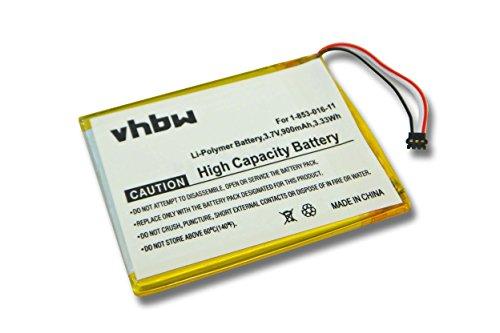 vhbw Akku passend für Sony Portable Reader PRS-650, PRS-650BC eBook Reader (900mAh, 3,7V, Li-Polymer)