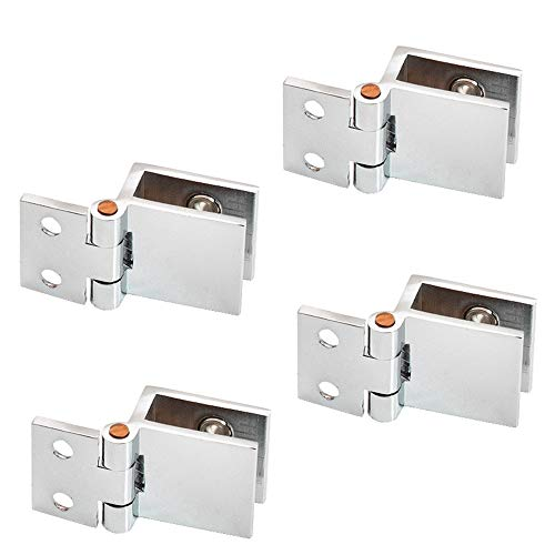 inherited 4 st glasdörr svänggångjärn kit, dusch glasdörr justerbar klämma, gångjärn anpassningsbar 5-8 mm glas för badrum dusch glasdörr skåp