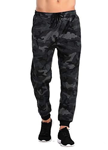 STARBILD Pantalones para Hombre Entrenamiento Fitness Deportes Jogger con Bolsillos Coincidencia de Colores Casuales Pantalones Deportivos Camuflaje XL