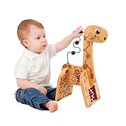 Arkmiido Cubo de Actividad de Madera 6 en 1 para bebé Ciervo Cubo de Madera Juguete Regalo de Juguete Educativo para niños pequeños y niños