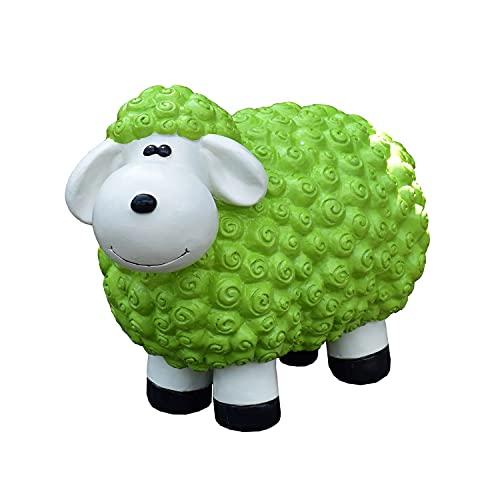 Geschenkestadl Dekofigur Schaf Susanne in grün Bunte Schafe Tier Figuren für Haus und Garten