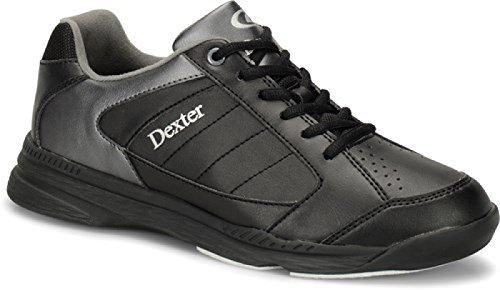 DEXTER Ricky IV Bowling Schuhe für Einsteiger und Profis Größe 38-47 in 3 (Schwarz/Alloy, 43,5)