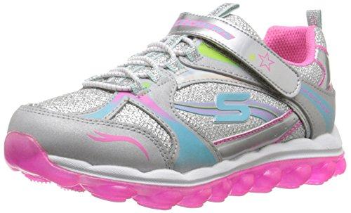 Skechers Skechers Skech Air-Bubble Beatz Laufschuhe für Mädchen, Mehrfarbig - Mehrfarbig (Smlt) - Größe: 34 EU