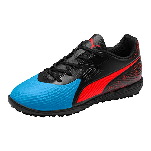 Puma Unisex-Kinder ONE 19.4 TT Jr Fußballschuhe, Blau (Bleu Azur-Red Blast Black), 38 EU