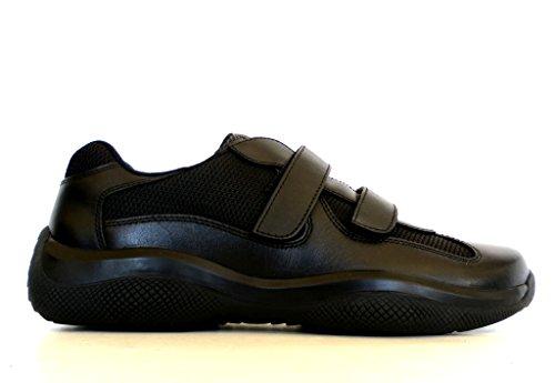 Prada Sneakers Scarpe Uomo in Tessuto e Pelle Modello 4P0723 O0V F0002 Nero n.40
