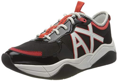 Armani Exchange Cher Sneaker, Zapatillas Mujer, Negro, 37 EU