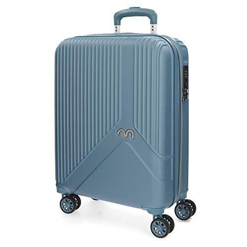 Movom Trendy Maleta de cabina Azul 39x55x20 cms Rígida ABS Cierre TSA 39L 3,3Kgs 4 Ruedas Dobles Extensible Equipaje de Mano