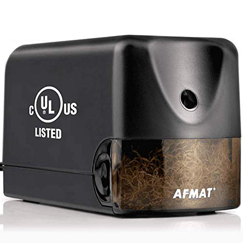Fast Sharpen in 3s AFMAT Electric Pencil Sharpener Heavy Duty Auto Stop Helical Pencil Sharpener Plug in for No.2//Colored Pencils,School,Office Commercial/&Industrial Pencil Sharpener for Classroom