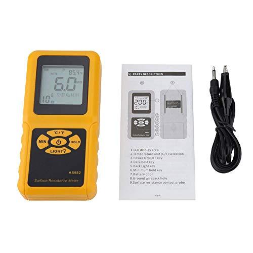 Smart Sensor Insulation Resistance Meter Tester AS982 Digital Insulation Resistance Tester AS982 LCD Display Surface Resistance Meter Earth Resistance Tester