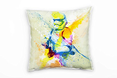 Paul Sinus Art Stormtrooper Deko Kissen Bezug 40x40cm für Couch Sofa Lounge Zierkissen - Dekoration zum Wohlfühlen