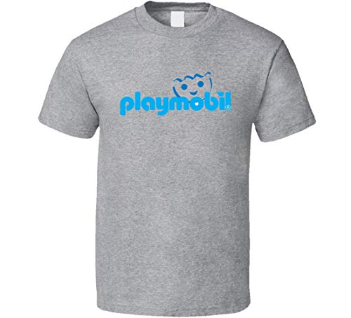 OOPEE Playmobil Retro Vintage Old School Toy Cool T Shirt Gris