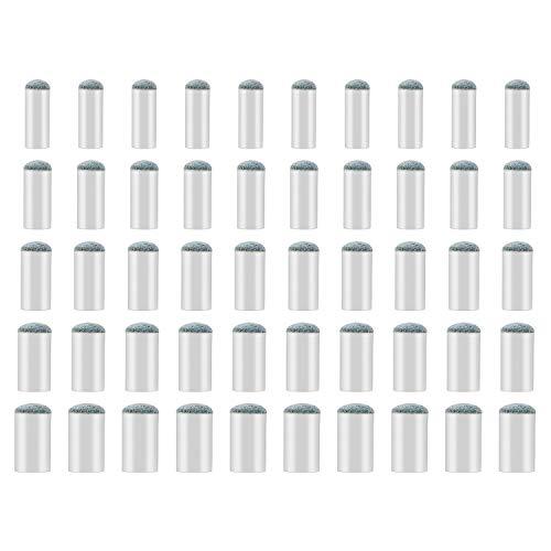 SAVITA 50 Stück Cue Tipps Billard Ersatz Tipps mit Pool Billard Queue Spitze mit 9 mm, 10 mm, 11 mm, 12 mm, 13 mm Queue Tipps