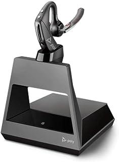 Plantronics Bluetooth Mono Headset 'Voyager 5200 Office' (1 way), WindSmart Technologie, Adaptive Mikrofone, IPX4, Taste für Sprachsteuerung, NFC, Ladestation mit USB A, Schwarz