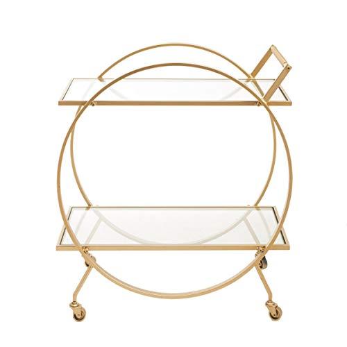 Pureday Servierwagen Round - Beistelltisch - Metall Glas - Gold