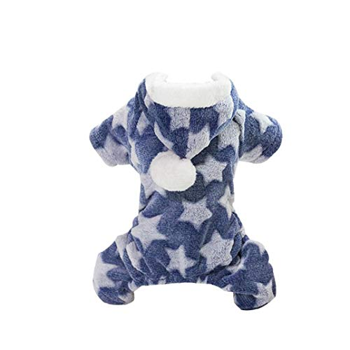 shentaotao Ropa Caliente Adorable De Perrito Festivo De Navidad Felpa Ropa Suave para Los Pequeños Perros De Perrito del Gato del Animal Doméstico Accesorios XL Azul