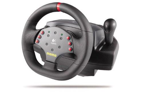Logitech MOMO Racing Force Feedback Wheel - Volante/mando (Ruedas + Pedales, Alámbrico, 64 MB, 20 MB, Pentium, Negro)