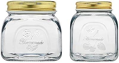 Pasabahce Toughened Glass Dishwasher and Refriegarator Safe Jar Set (Set of 2) + Pasabahce Homemade Jar with Metal Lid, 300ml,Set of 2
