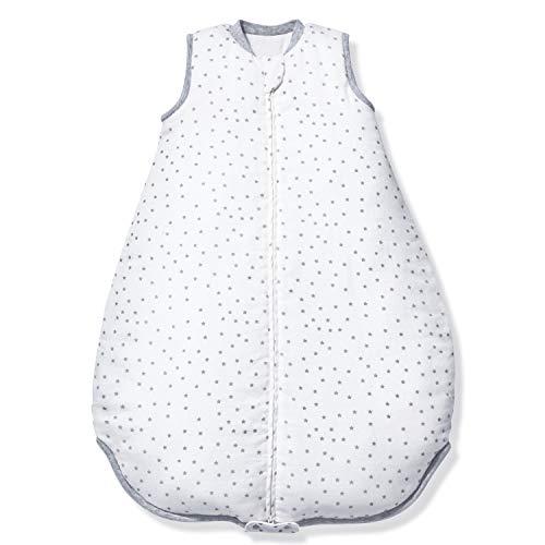 Momcozy Baby-Schlafsack Babydecke 2.5 TOG, 2 in 1 Baby-Schlafsack zum Schlafen, 30% Baumwolle, 70% Bambusfaser, Musselin, Super Weich, 2-Wege-Reißverschluss, Erweiterbare Länge für Jedes Alter, M