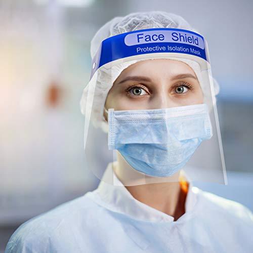 Visiera Protettiva di Sicurezza dalla Francia via DHL Visiera Trasparente Coperchio Antinebbia Proteggi Gli Occhi e Il Viso per Cucina da Laboratorio all'aperto (2)
