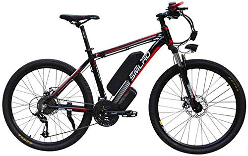 Electric Bike Electric Mountain Bike, 26' Electric Mountain Bike for Adults - 1000W Ebike with 48V 15AH Lithium Battery Professional Offroad Bicycle 27 Speed Gear Outdoor Cycling/Commute Bike for The