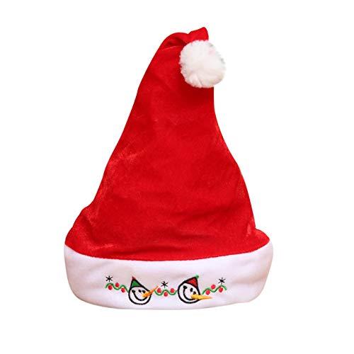 Beanie Hat Red Christmas Ornaments Decoration Christmas Hats Santa Hats Children Women Men Boys Girls Cap For Christmas Party Props C