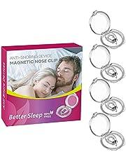 Dispositivo anti-ronquido del clip de la nariz magnética, la solución de ronquidos de fácil parada. Ayuda a la ayuda para dormir profesional (4 PCS)