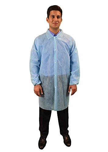 Keystone LC0-BE-NW-LRG-BLUE Limited Special Price Polypropylene Lab Pocket No Coat Max 65% OFF E