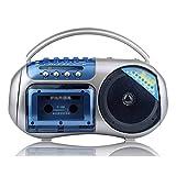 HDDFG Grabadora de Cinta con un Solo Altavoz Walkman Player Enseñanza de inglés Escucha portátil Aprendizaje Segunda Banda Radio