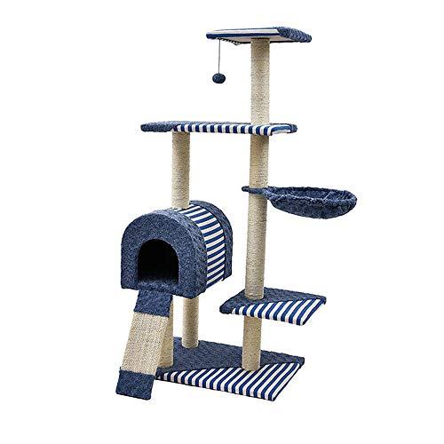 Marco De Escalada De Gato Artículos for mascotas de madera del gato del gato columpio del árbol del gato de la litera del gato grande del juguete del rasguño de gato del gato Junta Plataforma de salto