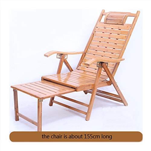 Chaise longue Sedia Pieghevole in bambù Sedia per Pausa per Adulti Poltrona per Anziani Poltrona per Anziani Sedie Pigro Sedia Estiva per Seggiolone 250kg (Size : B)
