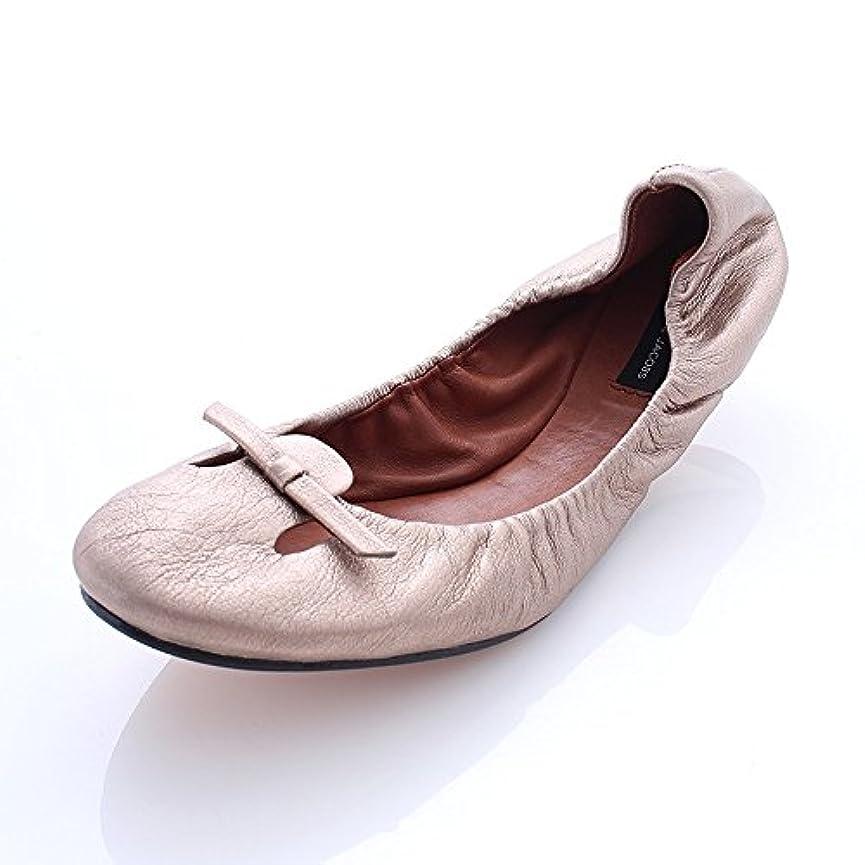 でロマンチック口[マークジェイコブス] メタリックフラットシューズ 靴 中古