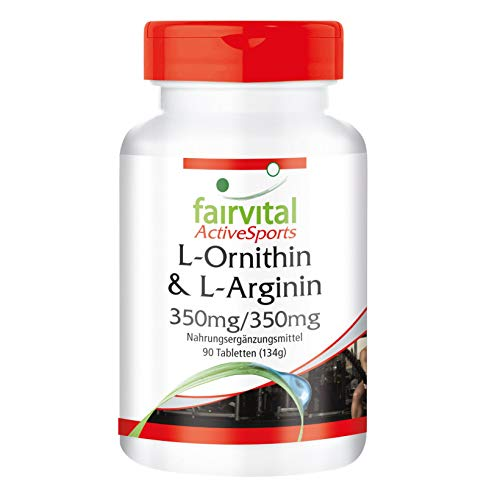 L-Ornithine & L-Argininee 350 mg/350 mg - HOOG GEDOSEERD - VEGAN - 90 tabletten - aminozuren voedingssupplement
