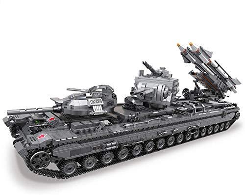 FanMei Technischer Panzer Bausteine, Militärbaustein Panzer KV-2 Schwerer Panzer Modellbausatz 3663 Teile, kompatibel mit namhaften technischen Panzern