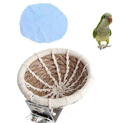 Keer – Cuerda de cáñamo Hecha a Mano para pájaros, Nido de cría, Juguete para periquitos, cacatúas, periquitos, Conos, Canarios, pinzones y Jaula de Loro pequeña Mediana para Colgar