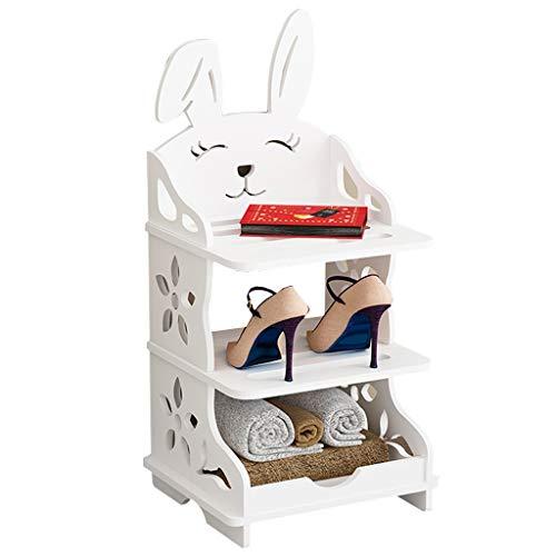 Zapatera Organizador de zapatos for niños Rack de zapatos for conejos Rack de zapatos de múltiples capas Ensamblaje simple Adecuado for el dormitorio de entrada Habitación for niños Torre organizadora