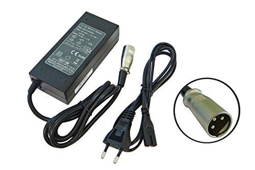 vhbw 220V Netzteil Ladegerät Ladekabel passend für e-Bike, Pedelec, Elektrofahrrad-Akkus mit 3Pin-Anschluss.