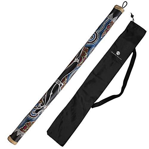 Australian Treasures - Baton de pluie 100cm painted incluant un sac en nylon pour rainstick