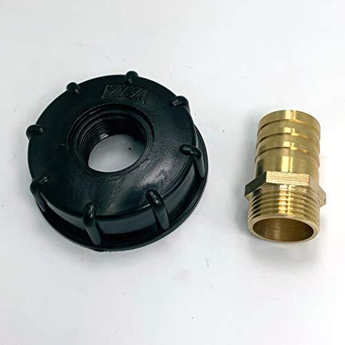 Milageto IBC 1000L Conector grifo depósito agua 1/2' 1' 3/4' Adaptador para manguera