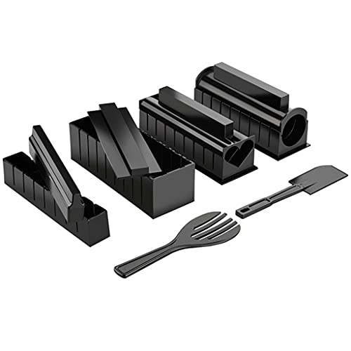 YUTRD ZCJUX 10 unids/Set DIY Sushi Making Kit Roll Sushi Maker Rice Roll Molde Cocina Sushi Herramientas Sushi Herramientas de Cocina Herramientas de Cocina