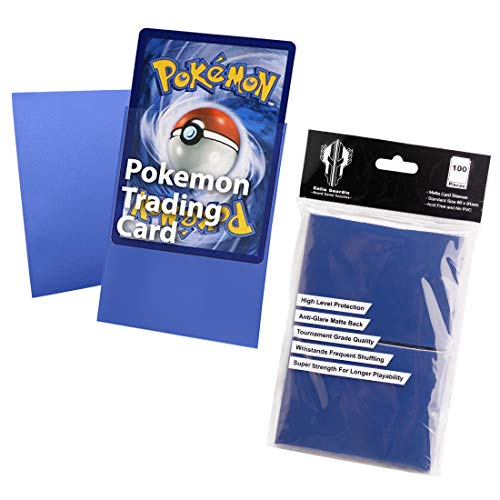 Standard Size 66x91mm Card Game Cards Sleeves,Double Matte Trading Card Deck Protector Card for Pokemon,Baseball,Dropmix,MTG(100 sleeves)