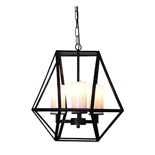 Lyuez IJzeren kroonluchter creatieve glazen hanglamp woonkamer eetkamer decoratie verlichting instelbare energiebesparende kroonluchter