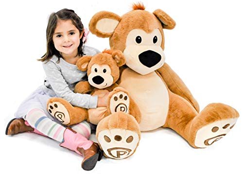 Pawley The Stuffed Teddy Bear - Cute Stuffed Animal for Kids - Adorable Plushie Bear 34""