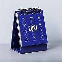 FECHO 卓上カレンダ 2020-2021 ミニ デスクトップカレンダ 計画カレンダ 耐久性 シンプル 可愛い メモ帳カレンダーブック 7.5cm×9.5cm