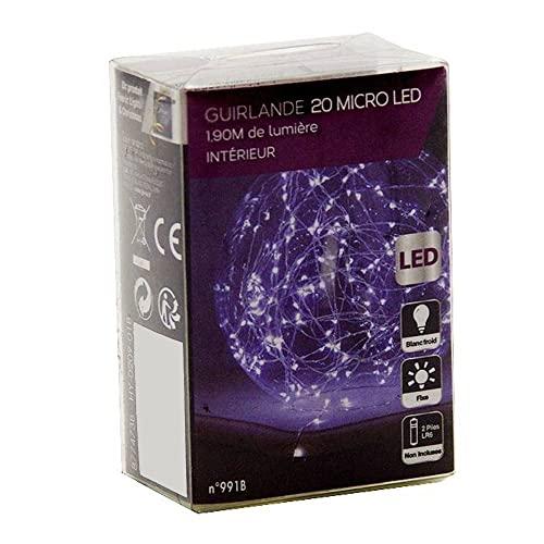 Guirlande intérieur - 20 LED - Blanc chaude