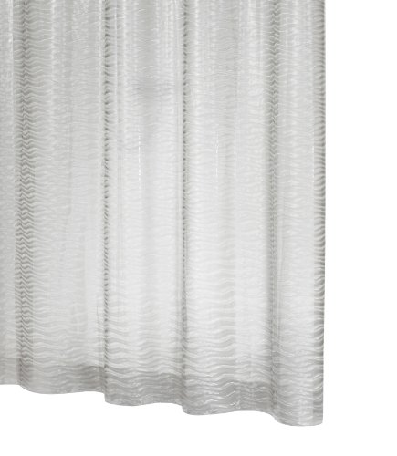 RIDDER 35840S-350 Duschvorhang Folie ca. 180 x 200 cm, Silk semi transparent mit integrierten großen Aufhängeösen